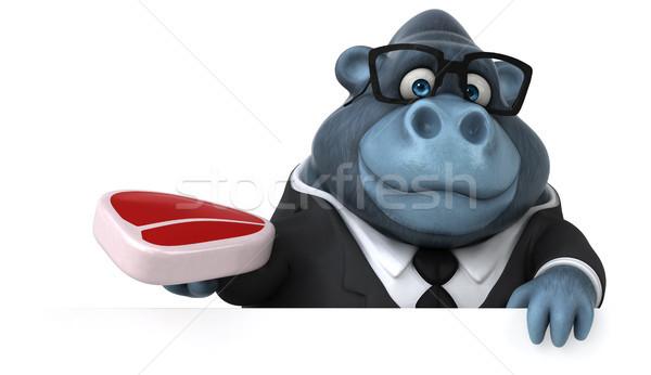 Eğlence goril 3d illustration takım elbise et hayvan Stok fotoğraf © julientromeur