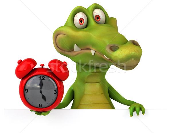 Coccodrillo divertimento felice clock design arte Foto d'archivio © julientromeur