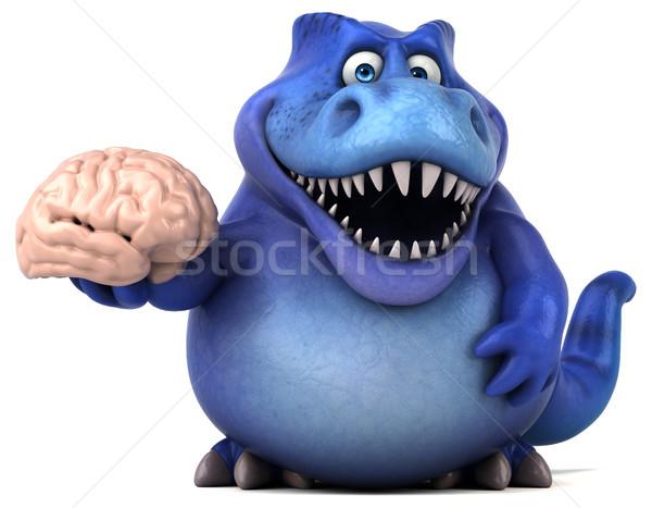 Eğlence dinozor 3d illustration beyin dişler hayvan Stok fotoğraf © julientromeur