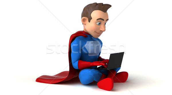 Superhero coding - 3D Illustration Stock photo © julientromeur