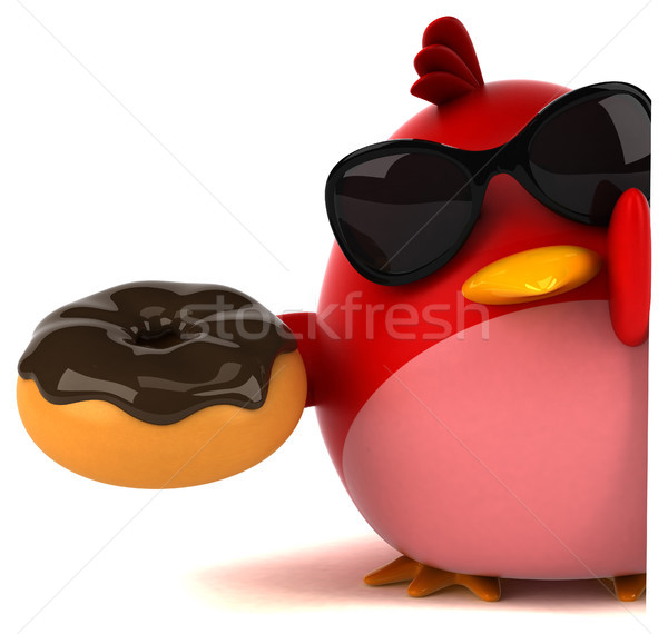 Red bird - 3D Illustration Stock photo © julientromeur