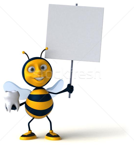 Leuk bee werknemer tanden honing tand Stockfoto © julientromeur