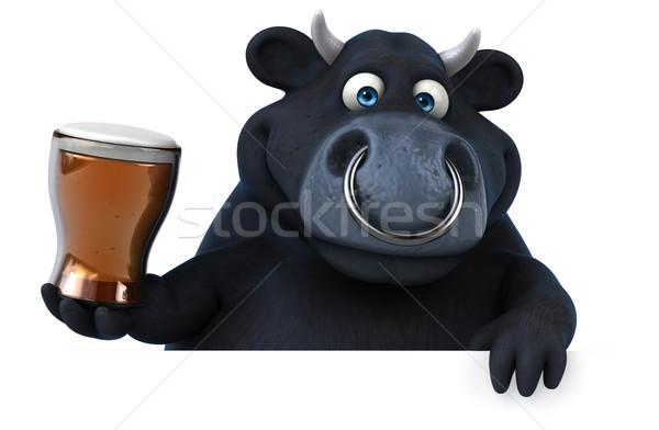 黒 牛 3次元の図 ビール 髪 牛 ストックフォト © julientromeur