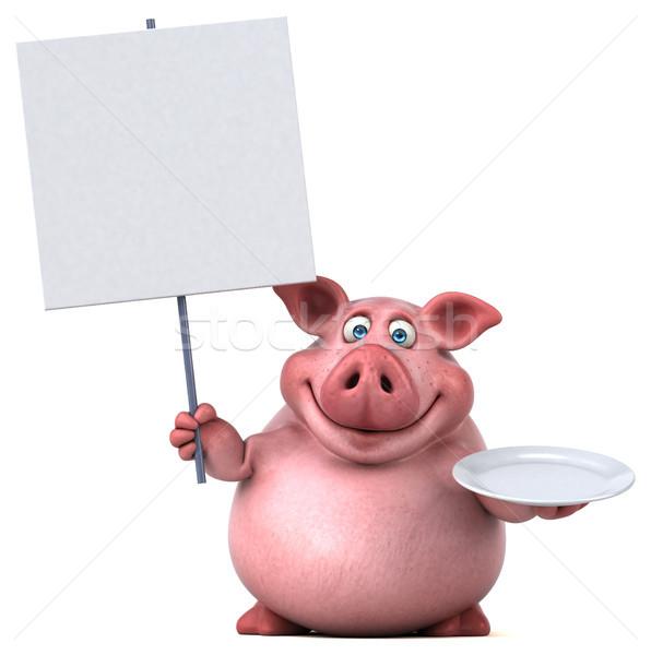 Jókedv disznó 3d illusztráció étel kövér állat Stock fotó © julientromeur