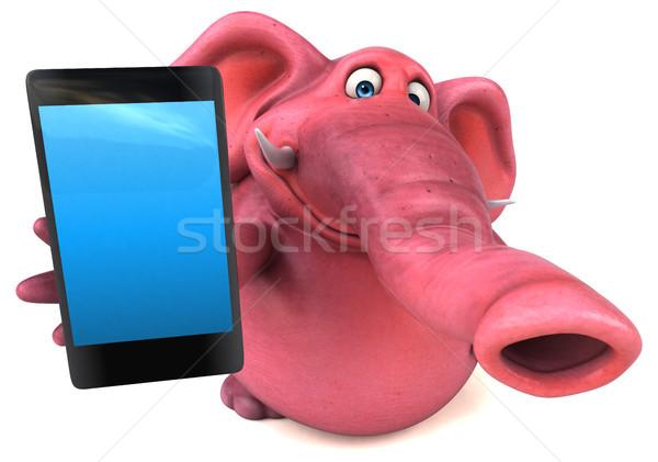 Diversión elefante 3d selva animales rosa Foto stock © julientromeur