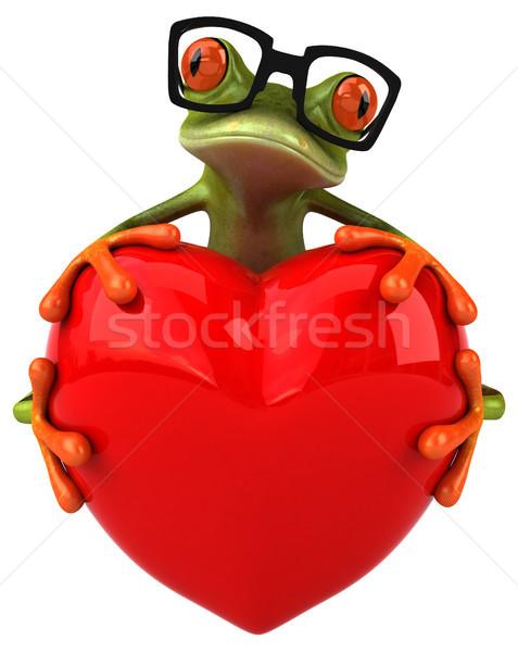 Zabawy żaba serca zielone tropikalnych 3D Zdjęcia stock © julientromeur