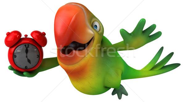楽しい オウム 眼 クロック 鳥 緑 ストックフォト © julientromeur