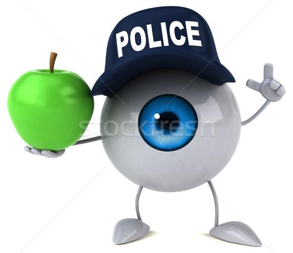 Auge Licht Obst Schönheit Medizin blau Stock foto © julientromeur