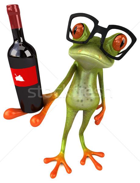 Diversão sapo olho vinho natureza beber Foto stock © julientromeur