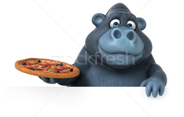 Jókedv gorilla 3d illusztráció természet Afrika vicces Stock fotó © julientromeur