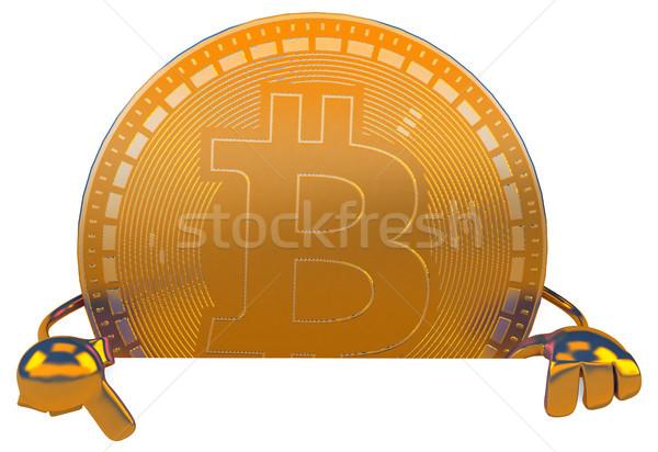 Bitcoin ilustração 3d internet tela financiar mercado Foto stock © julientromeur