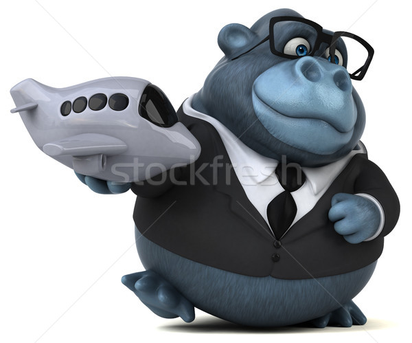 Eğlence goril 3d illustration işadamı seyahat takım elbise Stok fotoğraf © julientromeur