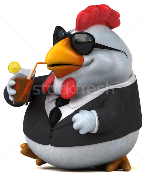 Eğlence tavuk 3d illustration dizayn işadamı kuş Stok fotoğraf © julientromeur