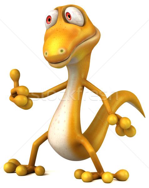 Zabawy jaszczurka zielone kolor zwierząt dinozaur Zdjęcia stock © julientromeur