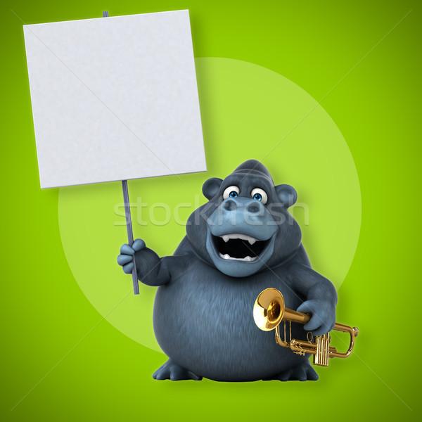 Divertimento gorilla illustrazione 3d africa band animale Foto d'archivio © julientromeur