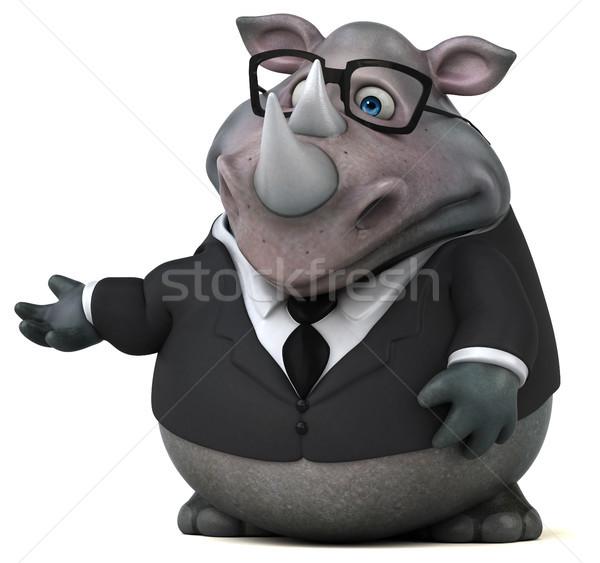 楽しい サイ 3次元の図 ビジネスマン スーツ 脂肪 ストックフォト © julientromeur
