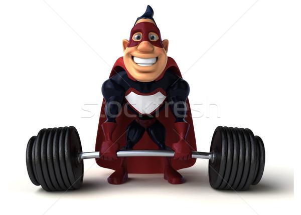 Zabawy superhero 3d ilustracji sportu ciało siłowni Zdjęcia stock © julientromeur