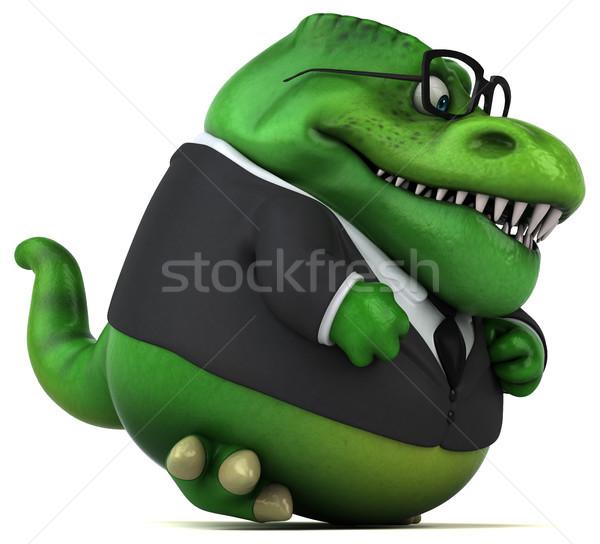 Eğlence 3d illustration kitap iş adamı banka dişler Stok fotoğraf © julientromeur