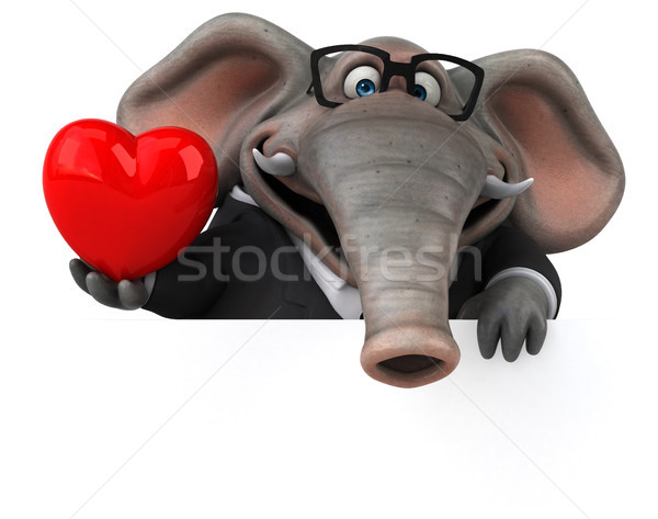 Fun elephant - 3D Illustration Stock photo © julientromeur