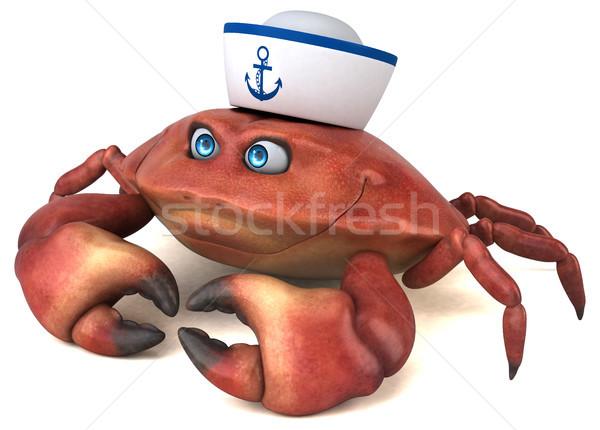 Diversão caranguejo ilustração 3d comida branco cozinhar Foto stock © julientromeur