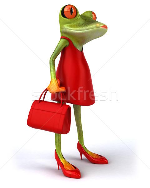 Zabawy żaba moda charakter czerwony worek Zdjęcia stock © julientromeur