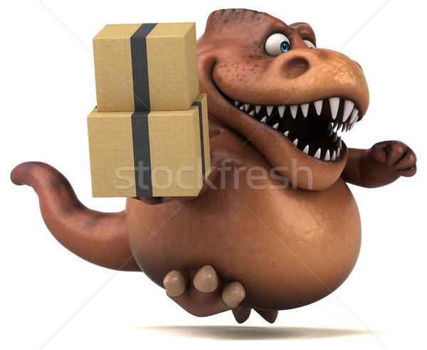 Foto stock: Diversão · ilustração · 3d · dentes · animal · história · lagarto