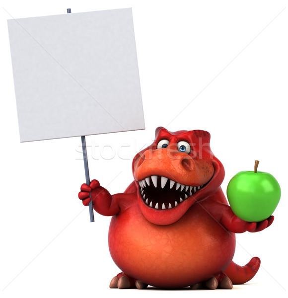 весело динозавр 3d иллюстрации фрукты зубов животного Сток-фото © julientromeur