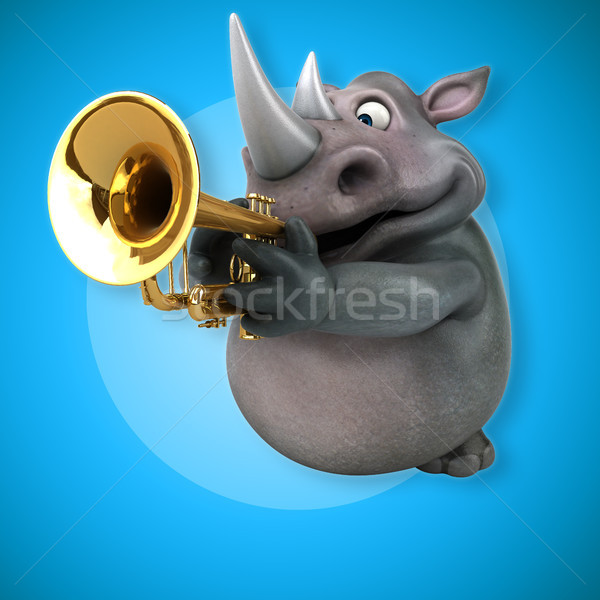 Fun rhino - 3D Illustration Stock photo © julientromeur