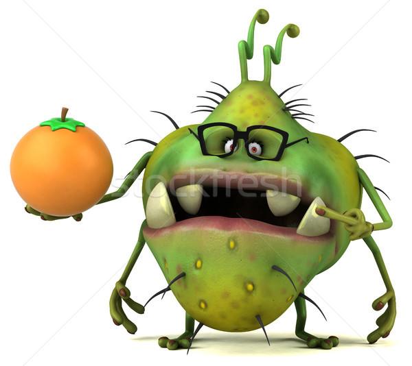 Jókedv bacilus 3d illusztráció gyümölcs egészség rajz Stock fotó © julientromeur