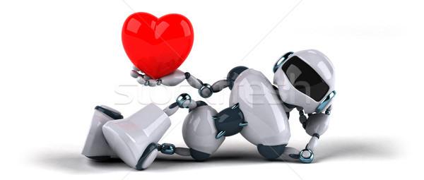 Stok fotoğraf: Robot · sevmek · teknoloji · Retro · gelecek · 3D