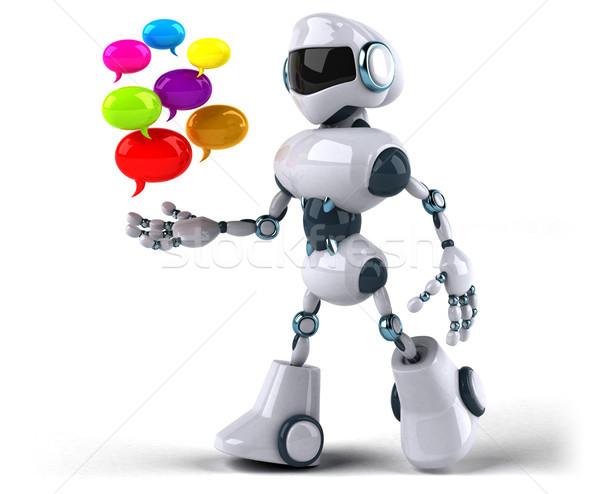 Robot tecnologia retro futuro media bolla Foto d'archivio © julientromeur