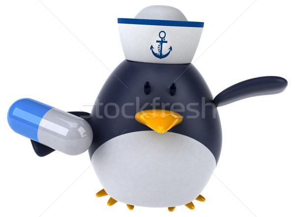 Jókedv pingvin 3d illusztráció madár vicces kövér Stock fotó © julientromeur