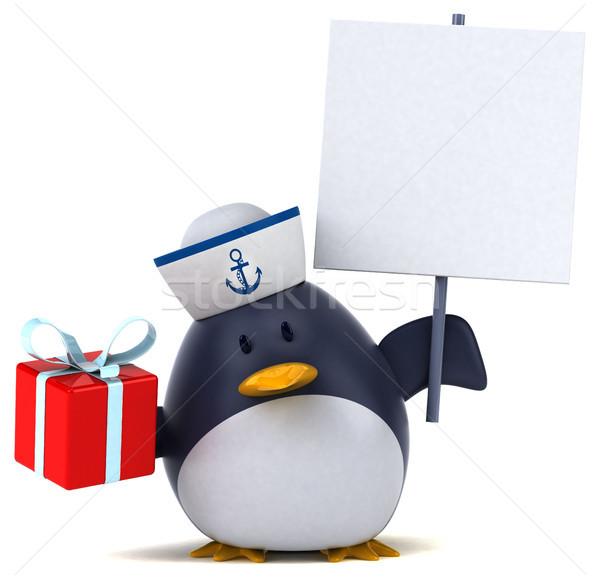 весело пингвин 3d иллюстрации птица смешные подарок Сток-фото © julientromeur