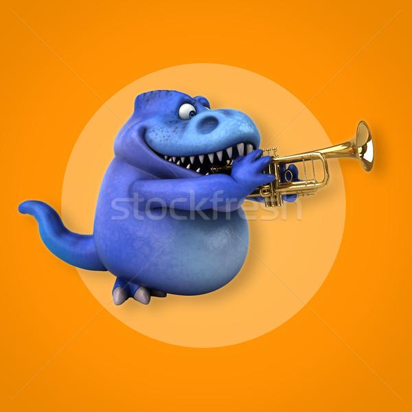 Сток-фото: весело · 3d · иллюстрации · концерта · зубов · животного · история