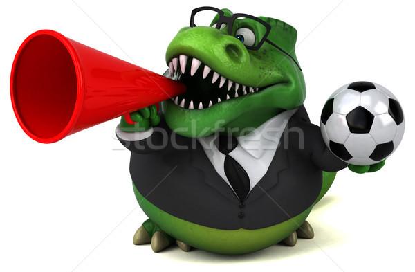 Stockfoto: Leuk · 3d · illustration · business · voetbal · voetbal · zakenman