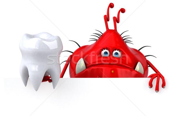 Zabawy 3d ilustracji zęby dentysta graficzne Zdjęcia stock © julientromeur