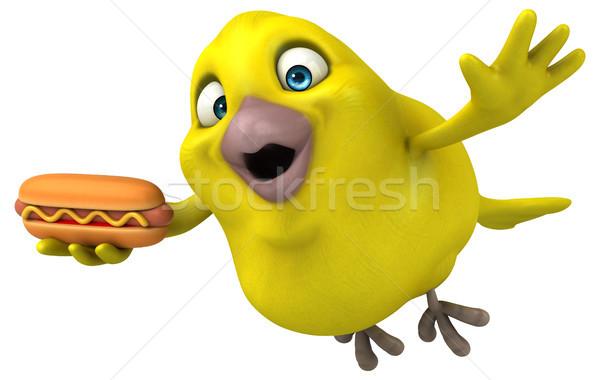 Eğlence kuş turuncu hayvan karikatür diyet Stok fotoğraf © julientromeur