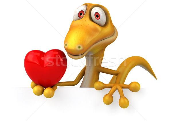 楽しい トカゲ 中心 色 動物 恐竜 ストックフォト © julientromeur
