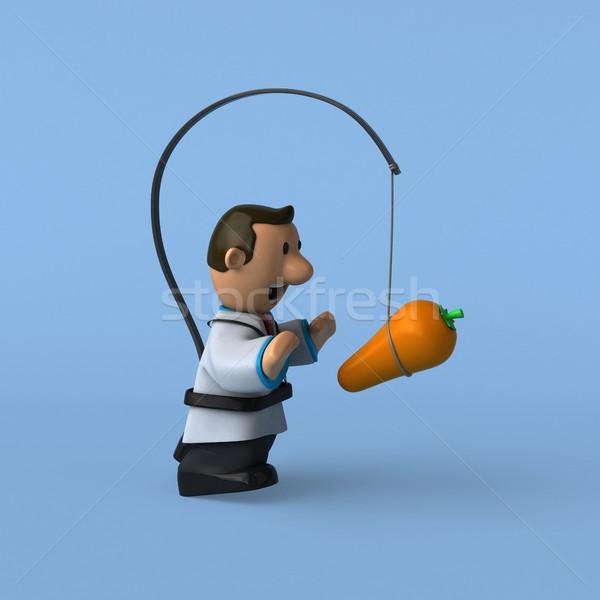 Cartoon medico illustrazione 3d medici cuore scienza Foto d'archivio © julientromeur
