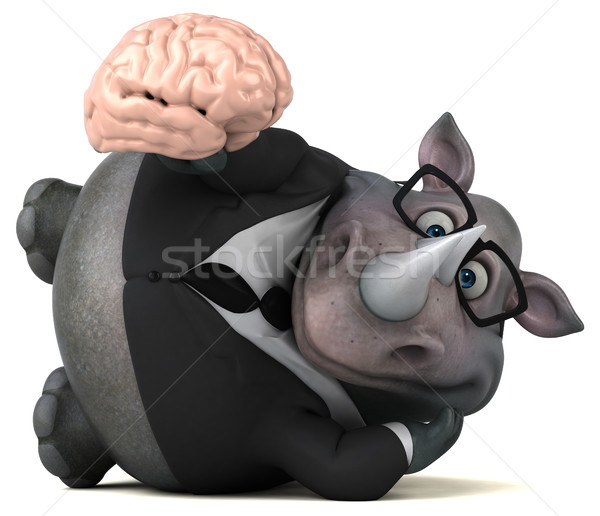 Fun rhinoceros - 3D Illustration Stock photo © julientromeur