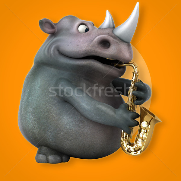 Fun rhino - 3D Illustration Stock photo © julientromeur