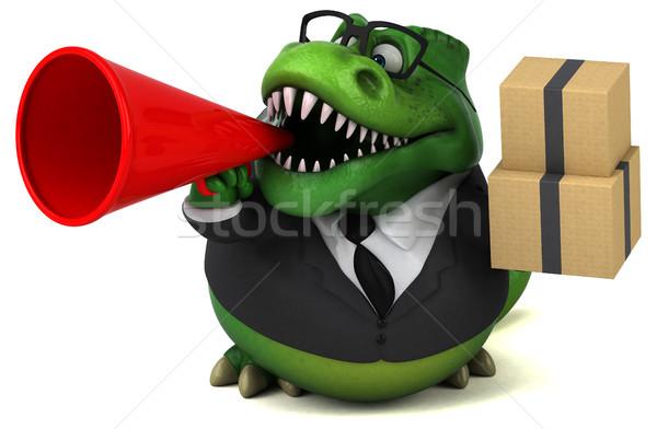 Stockfoto: Leuk · 3d · illustration · business · zakenman · financieren · tanden