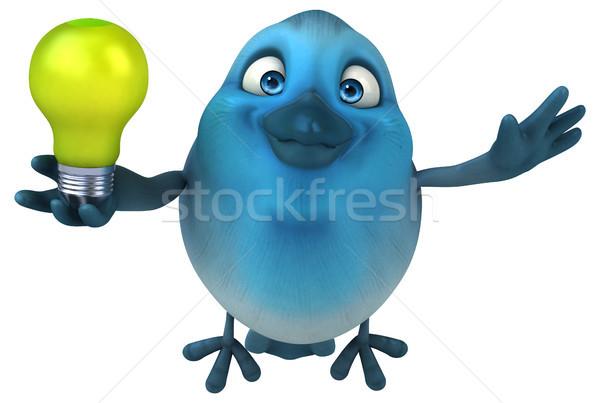 Mavi kuş yeşil iletişim karikatür sosyal Stok fotoğraf © julientromeur