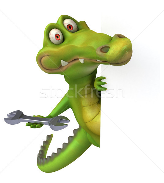 Krokodil leuk gelukkig ontwerp kunst mond Stockfoto © julientromeur