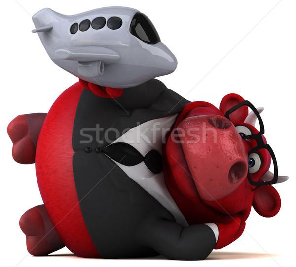 赤 牛 3次元の図 旅行 スーツ 楽しい ストックフォト © julientromeur