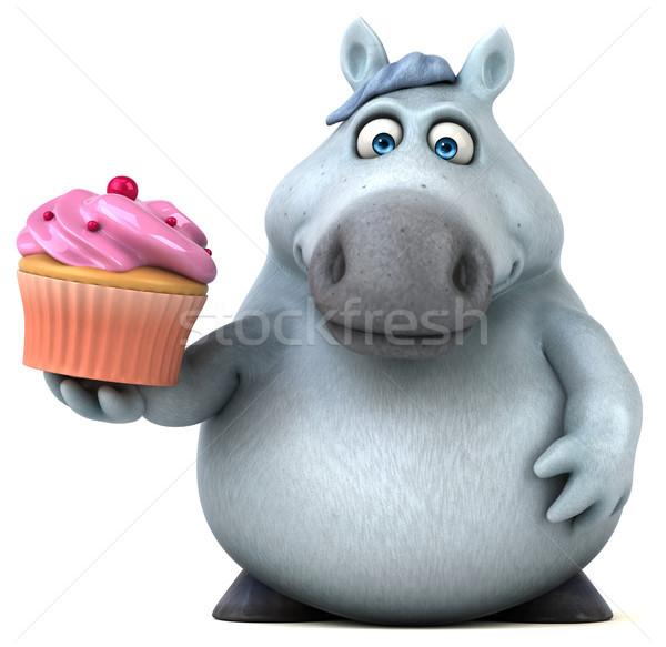 Fun horse - 3D Illustration Stock photo © julientromeur