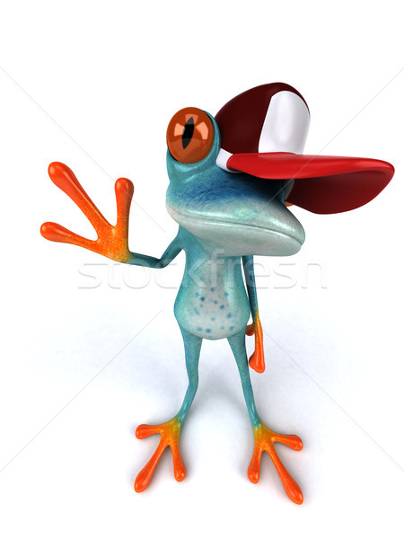 Fun frog - 3D Illustration Stock photo © julientromeur