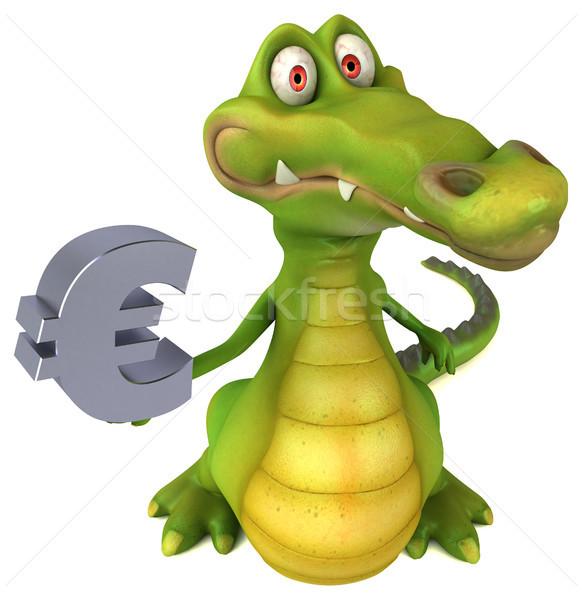 Crocodilo diversão negócio feliz projeto arte Foto stock © julientromeur
