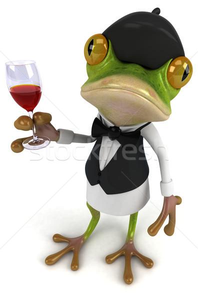 Jókedv béka zöld piros trópusi alkohol Stock fotó © julientromeur