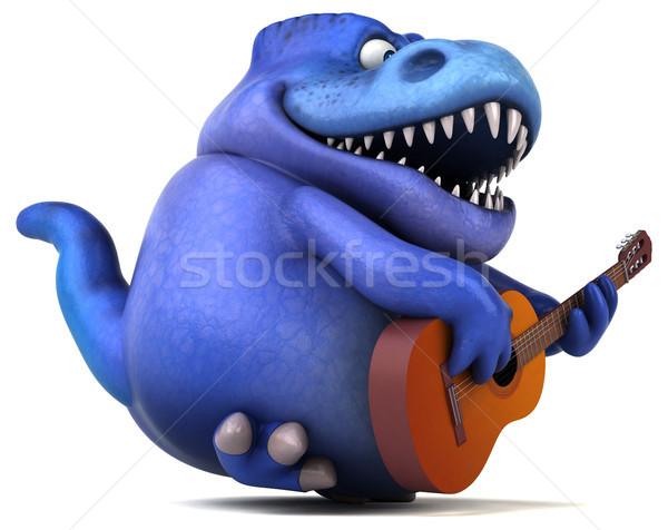 Сток-фото: весело · 3d · иллюстрации · концерта · зубов · джаза · животного